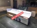 四川華為手機柜臺展示體驗桌配件柜收銀臺生產廠家