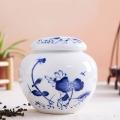 景德镇青花陶瓷膏方罐螺纹口可定制logo