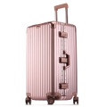工廠生產定制大容量鋁框拉桿行李箱32寸密碼箱托運箱