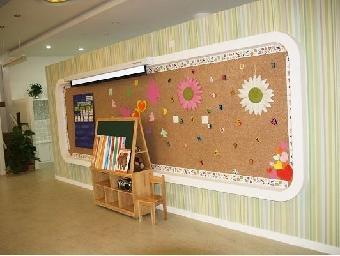 供应幼儿园彩色软木装饰墙板