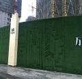 草坪墙围挡的铺设
