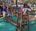 進口幼兒園碳化積木 大型積木生產 組合攀爬架批發