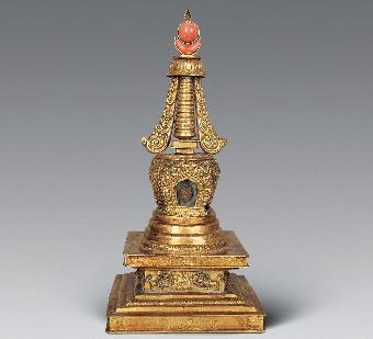 佛塔作为一种象征宝物