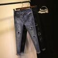 批发韩版库存牛仔裤尾货1至5元摆摊货源在广州牛仔裤