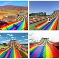 紅河市景區無動力彩虹滑道網紅七彩旱地滑道
