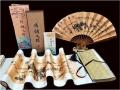 一带一路西安丝绸纪念品:折扇配两米卷轴工艺品