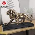 廠家批發定制鑄銅工藝品 辦公室書房創意獅子擺件
