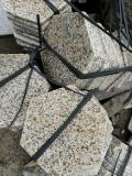衡陽噴沙面碎石拼接地鋪板 花崗巖六邊形石材