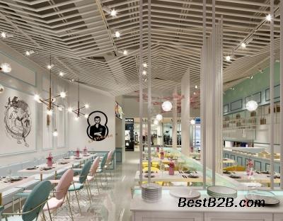 郑州网红餐饮店装修-网红餐饮店设计要有架子柜设计图图片