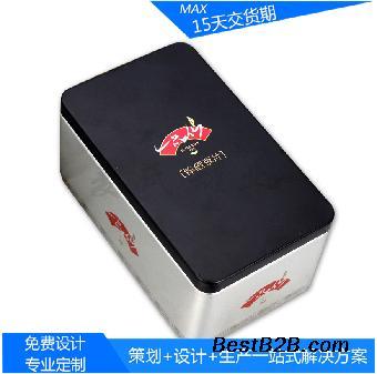 医药锌钙片储存马口铁盒 简约葡萄糖口服液包装金属盒