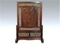紅木藝術大師雕花大紅酸枝屏風家具