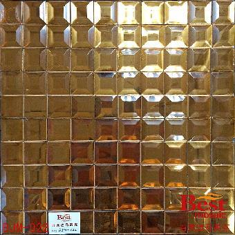 5公分茶色磨边镜,电视背景墙马赛克 玻璃马赛克厂