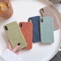 適用iphonexr絨布DIY后蓋式蘋果11手機殼