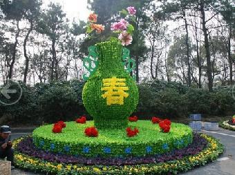 山东青州造型五色草,山东青州园艺立体造型