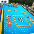 天津津南室外球場拼裝地板建設