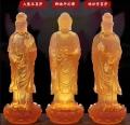 青海寺廟琉璃佛像大勢至菩薩釋迦摩尼佛觀世音菩薩