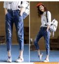 牛仔裤尾货工厂哪里有批发1至6元韩版牛仔裤货源