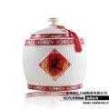 景德鎮陶瓷儲物罐 30斤防蟲米缸帶蓋