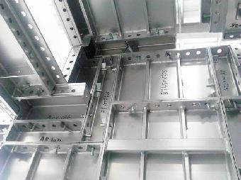 应用范围广:铝合金建筑模板适合墙体,水平楼板,柱子,梁,楼梯,窗台,飘