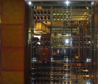 香港半岛酒店高档玫瑰不锈钢酒柜,玫瑰金不锈钢制品厂