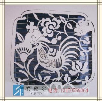 装饰不锈钢镂空雕花动物-吉祥鸡