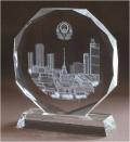 西安水晶獎杯創意定制愛心志愿者獎牌榮譽紀念品
