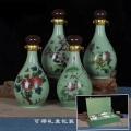 定制景德鎮陶瓷酒壇密封中國紅陶瓷酒瓶