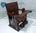 木質審訊椅約束椅犯人椅