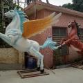 大型玻璃鋼飛馬雕塑室外商場房頂擺放裝飾廠家一手貨源