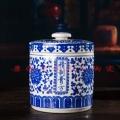 陶瓷茶葉罐青花罐罐膏儲存缸密封罐罐罐材中藥蜂蜜景德