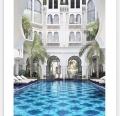 蓝色陶瓷泳池拼图马赛克厂家加工生产价格