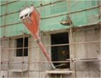 工作安全:新型塔吊料斗避免了老式塔吊料斗需要工人图片