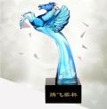 湖南懷化琉璃獎杯制作廠家琉璃商務禮品市場開拓獎杯
