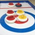 塞外團建 旱地冰壺球,冰壺球賽道10*2M標準尺寸