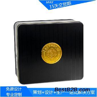 纯色正方形玛咖纯粉片金属盒 即食海参包装马口铁盒