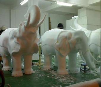 北京大象吉祥物立体泡沫雕塑制作厂家