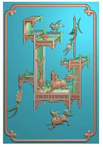 龙头木雕设计图纸