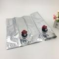 蝴蝶阀3kg红葡萄酒内置铝箔盒中袋定制5l纯净水袋