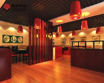 红川王火锅设计遵循整体大方,中式装饰格调统一,风格明快,突出环境图片