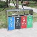 江蘇的不銹鋼分類垃圾桶