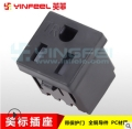 美標帶安全門壓線式插座美規嵌入式接線插座美式電源插