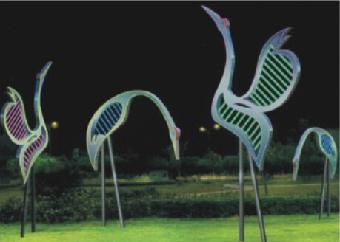 仙鹤发光雕塑 雕塑厂家直销