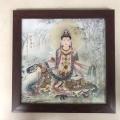 客廳山水風景魚圖仿古陶瓷畫人物掛畫