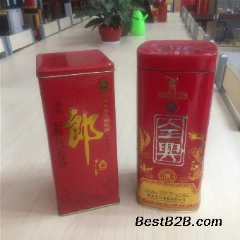 山东酒盒包装厂家专业定做各种白酒包装盒白酒铁盒