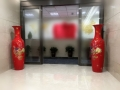 西安中國紅瓷大花瓶擺件