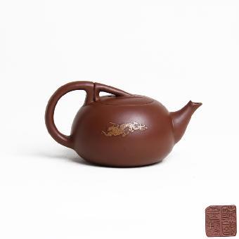 按压式泡茶壶结构图