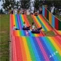 大型旱雪場地戶外設備 七彩滑道 彩虹滑道 雙人滑道