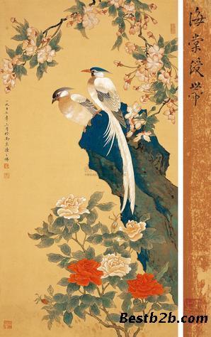 高端古董艺术品拍卖交易平台    陈之佛字画鉴定拍卖,陈之佛工笔画