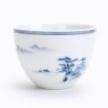 景德鎮手繪陶瓷茶杯 手繪青花品茗杯功夫茶具個人單杯