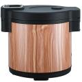 木纹保温桶保温饭盒保温桶不锈钢商用米饭保温桶插电热